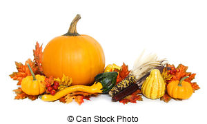 Gourd clipart border Autumn of  Photographs bottom