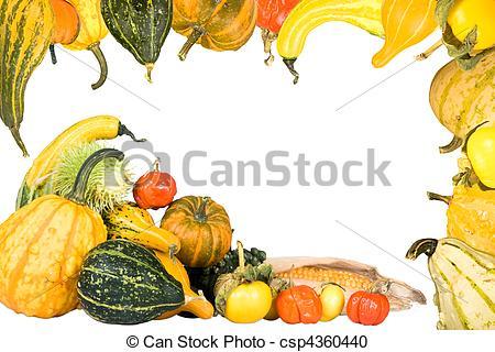 Gourd clipart border Basket thanksgiving Gourd of Border