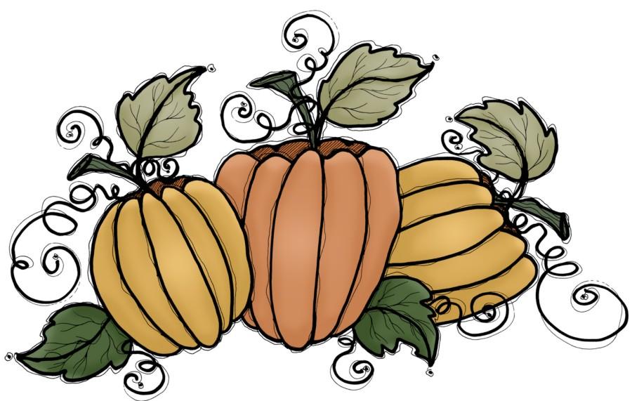 Gourd clipart cute Thanksgiving Funny Art Pumpkin Clip