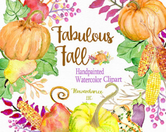 Gourd clipart fall leave Clipart wreath clipart pumpkin harvest
