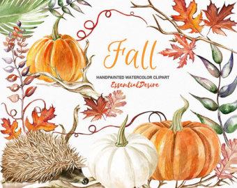 Gourd clipart fall pumpkin Watercolor Clip Pumpkin PNG Pumpkin