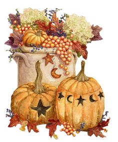 Harvest clipart fall decoration Painting Fall  Clipart Pumpkin