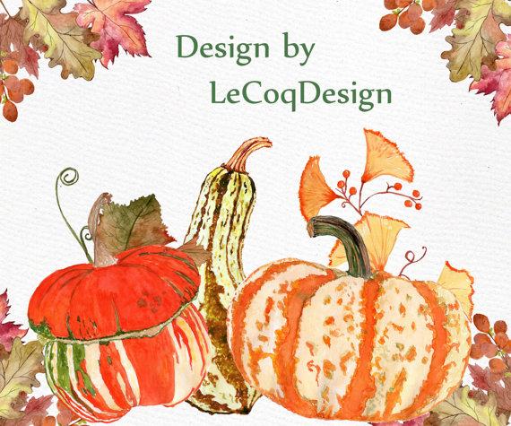 Gourd clipart harvest Digital Fall is pumpkin file