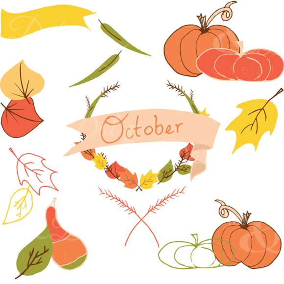 Gourd clipart october – the Hand Clip Fall