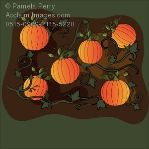 Gourd clipart pumpkin patch Patch Illustration of Art Pumpkin