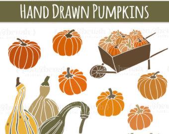 Gourd clipart pumpkin spice // Oval // Frames CLIP