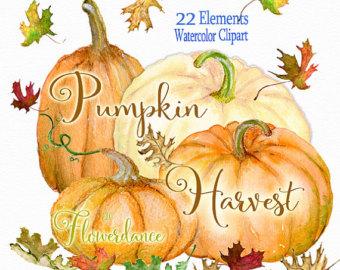 Gourd clipart pumpkin spice Pumpkin watercolor watercolor clipart clipart