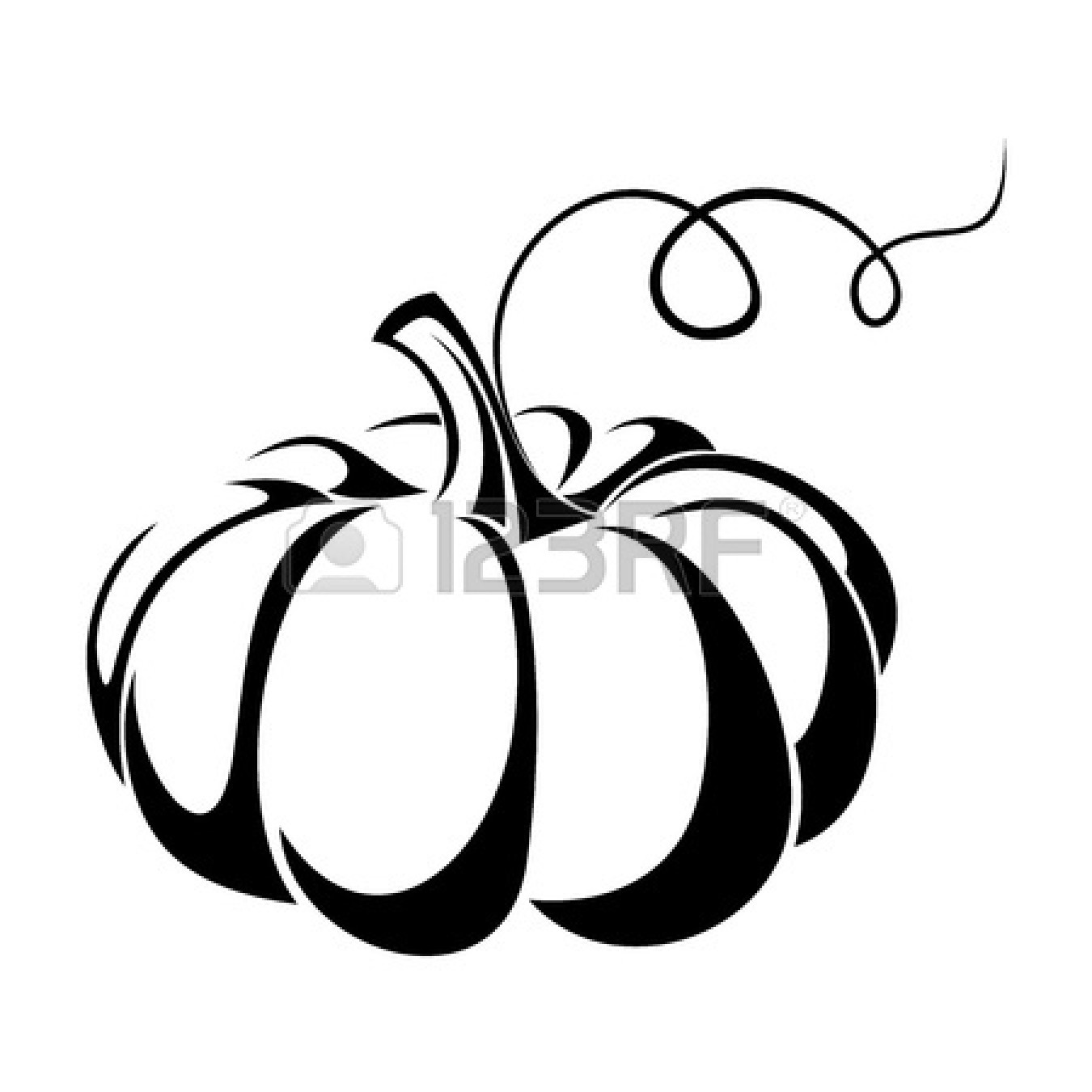 Gourd clipart pumpkin vine Collection leaves and Vector Illustration