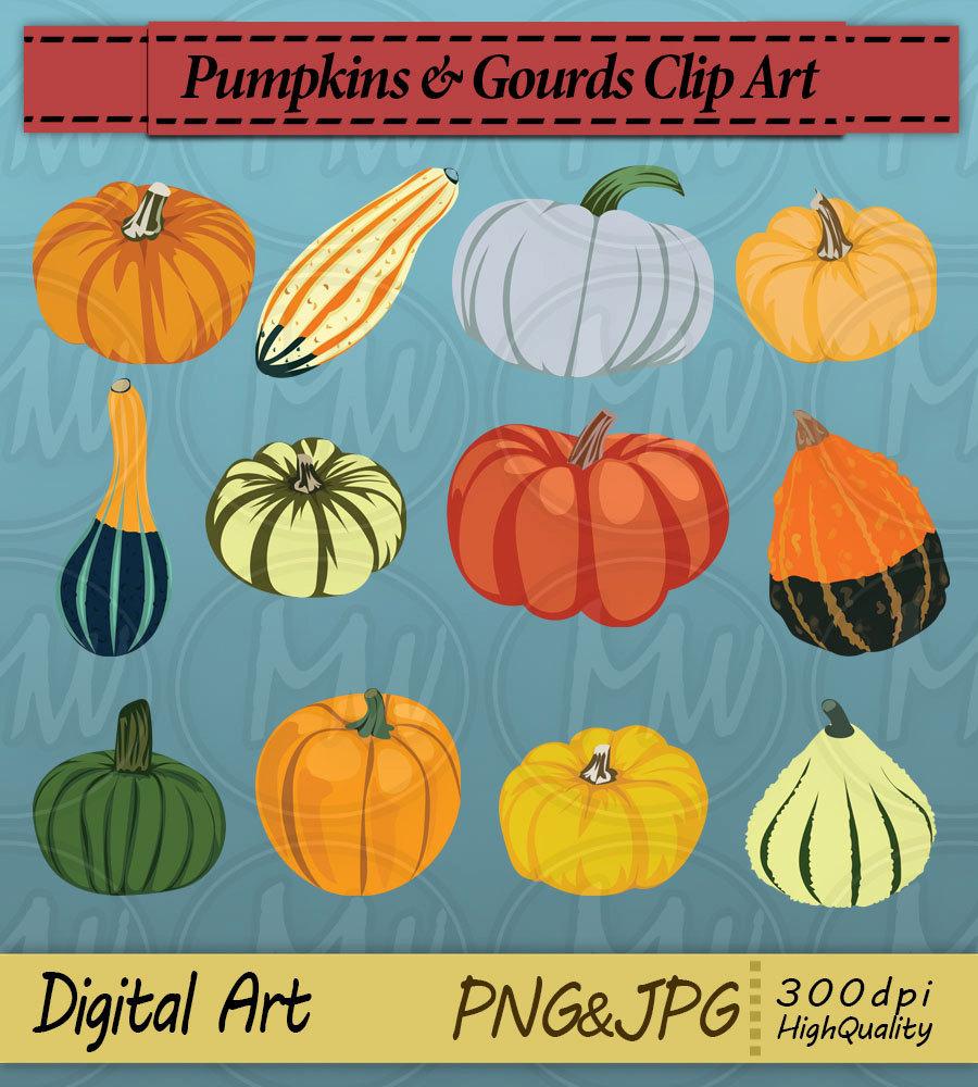 Gourd clipart small pumpkin Digital This clipart clipart a