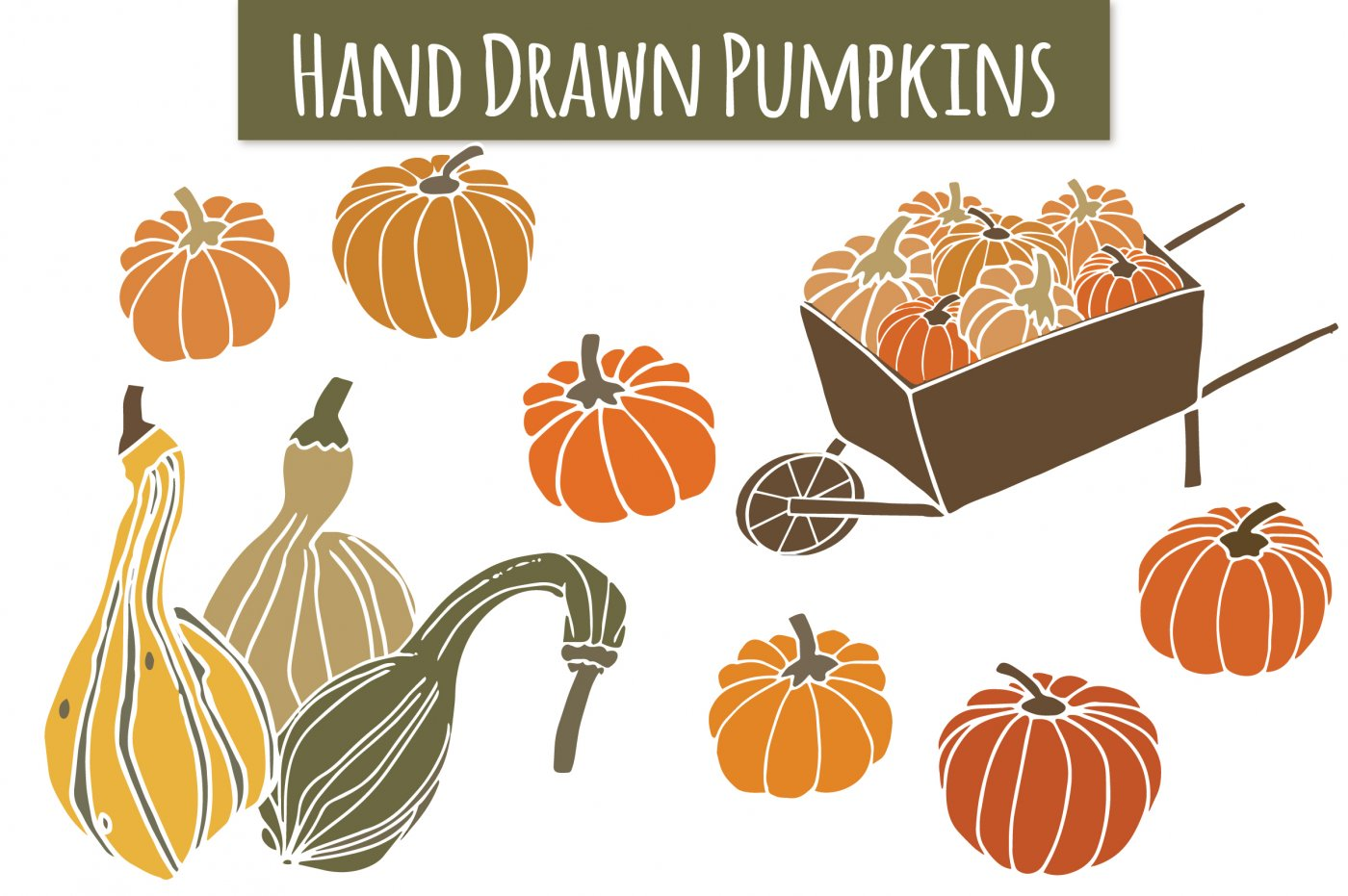 Gourd clipart small pumpkin Gourds  Brush by &