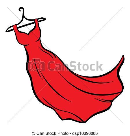 Dress clipart long dress Art Illustration  of 129