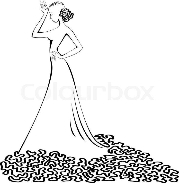 Gown clipart 3 woman Best dress 'silhouette slender Pinterest