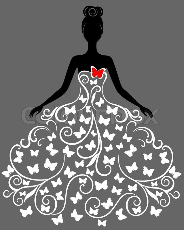 Gown clipart 3 woman Stock free Hi image Pinterest