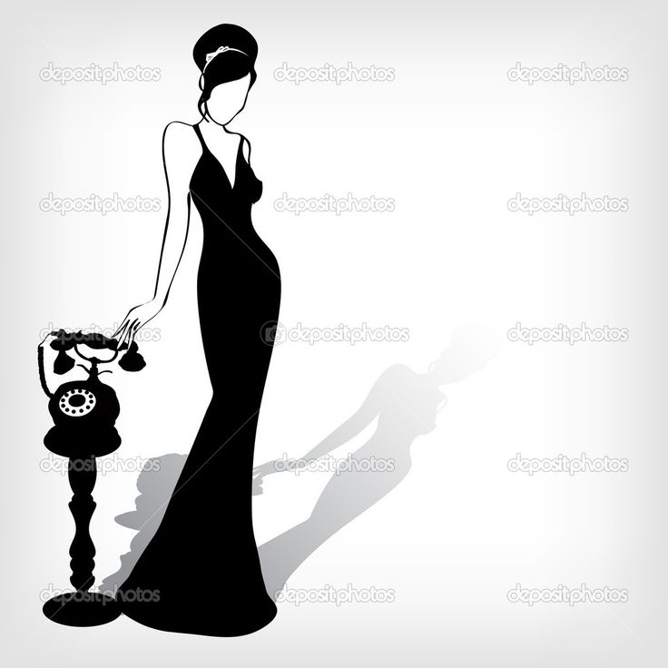 Gown clipart 3 woman Images Woman retro background Art/Silhouette
