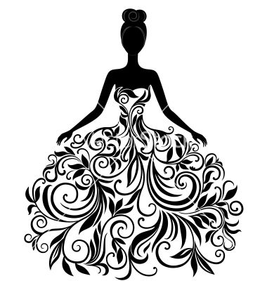 Gown clipart 3 woman Young Best Silhouette dress silhouette
