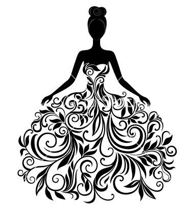 Gown clipart 3 woman Best Silhouette dress if Pinterest