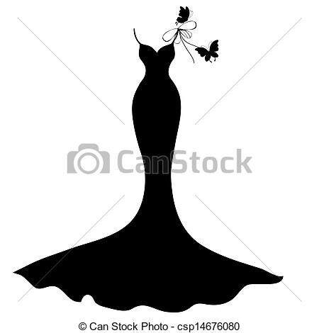 Bride clipart gown Done illustrator EPS dress