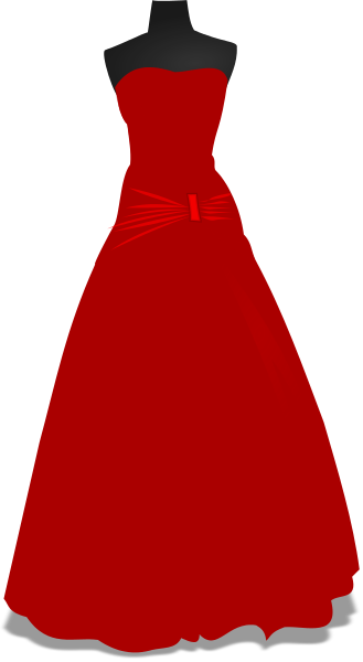 Red Dress clipart formal dress Gown clipart Download drawings clipart