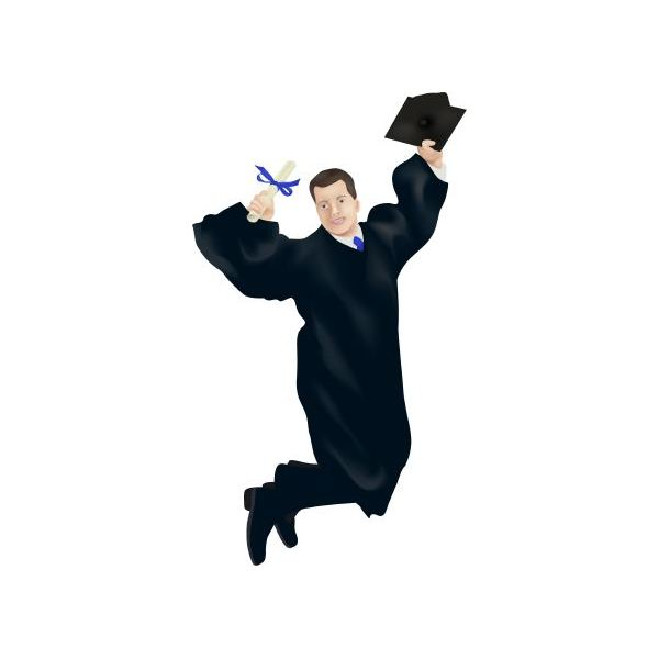 Gown clipart animated Graduation Vector Graduation Clipart graduation