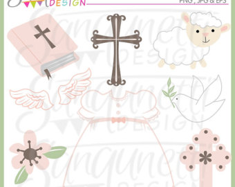 Gown clipart baby christening Girls Included Baptism Commercial Gown