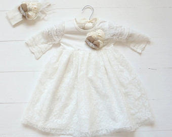 Gown clipart baby christening Shabby Baby Chic Dress Country