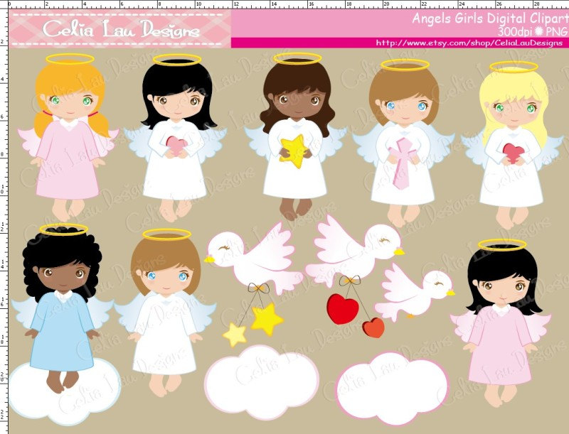 Gown clipart baby christening Cute Baptism Angel Angels clipart