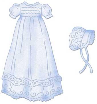 Gown clipart baby christening CottageCutz Christening Buy 4x4 Gown