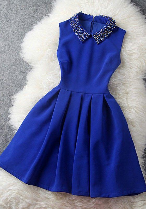 Gown clipart blue dress Collar Turndown Plain Best Dress