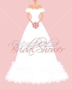 Gown clipart bridal shower Bridal Bridal Shower image digital
