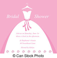 Gown clipart bridal shower Bridal Illustrations Clip clipart and