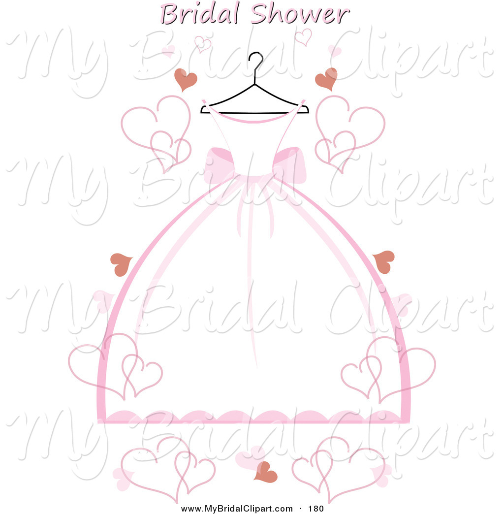 Gown clipart bridal shower Bridal Pink Text and Free