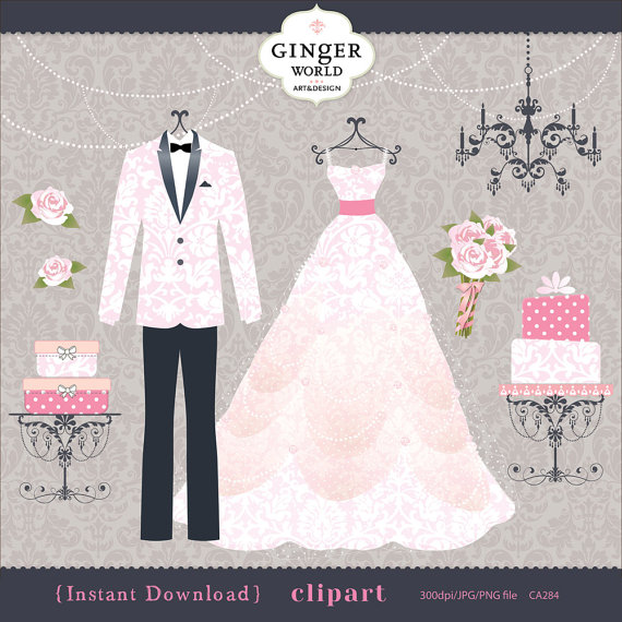 Gown clipart bride dress Gown Dress art Wedding clip