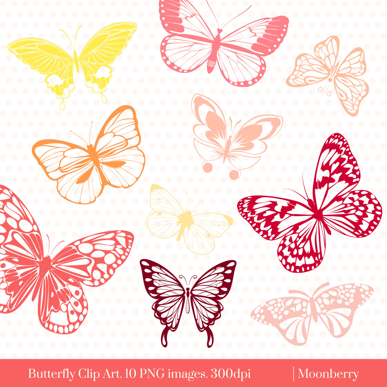 Gown clipart butterfly Clip art Butterflies Pink Butterflies