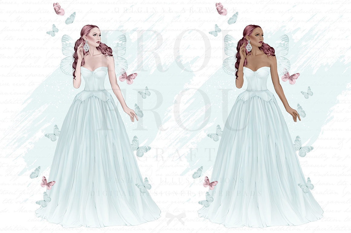 Gown clipart butterfly Tale  Fairytale Fairy Tale