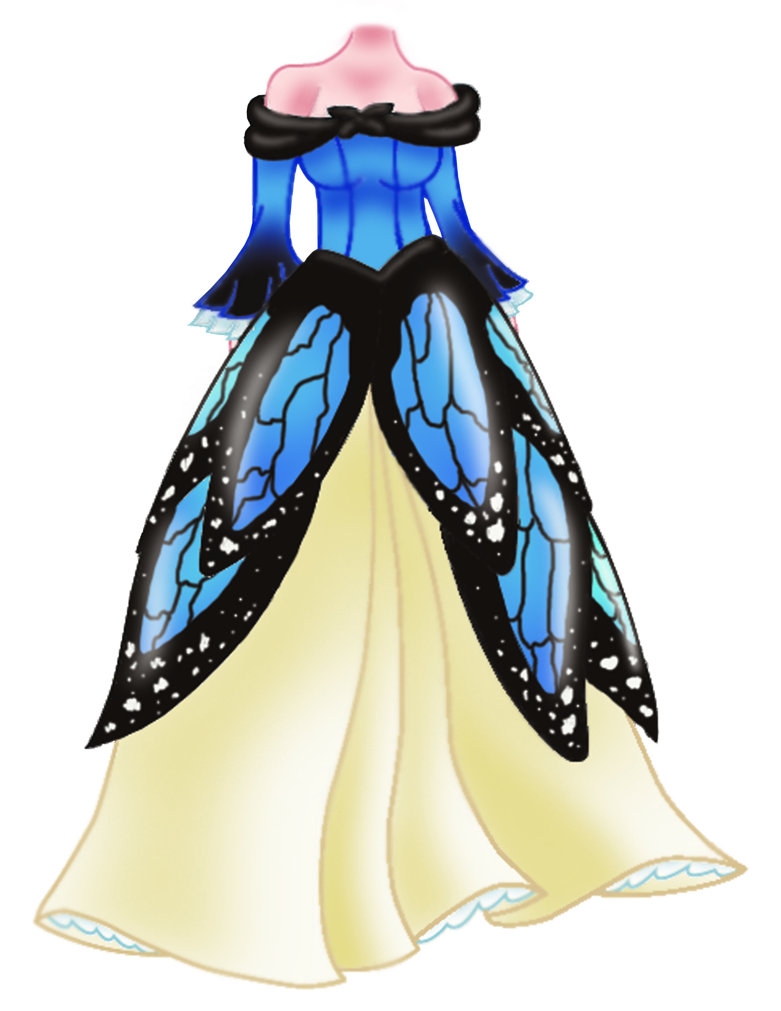 Gown clipart butterfly The the final On match