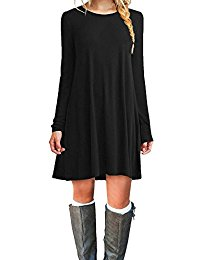Gown clipart casual dress Women's Loose Casual T Dresses