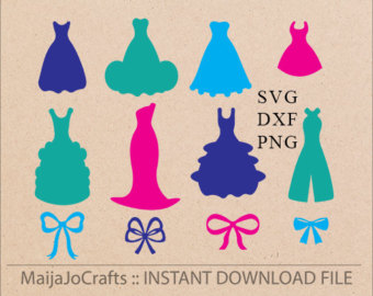 Gown clipart casual dress Etsy and clipart Machine DXF