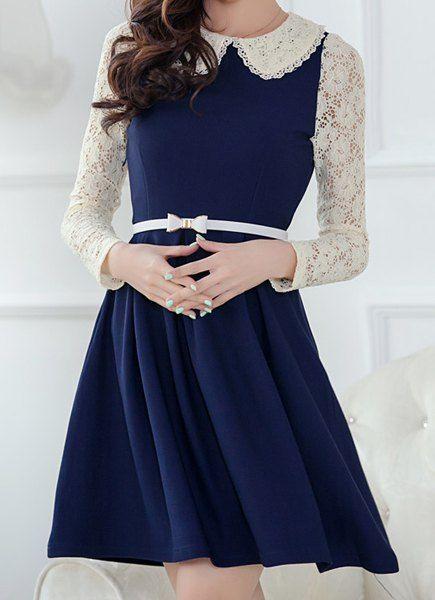 Gown clipart casual dress Ideas Collar Splicing Long dress
