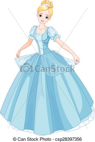 Gown clipart cinderella dress Beautiful  dressed Clipart of