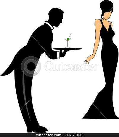Gown clipart diva Serving classy vector clipart serving
