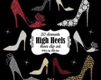 Gown clipart drees Shoes shoe clipart red gold