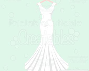 Gown clipart drees SVG E226 Cut Clipart &