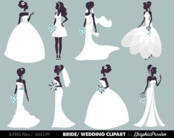 Gown clipart drees Bridal Bride Clipart Digital clipart