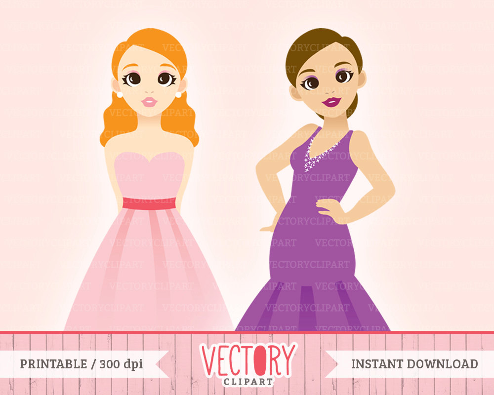 Gown clipart drees A Dress digital Party 4