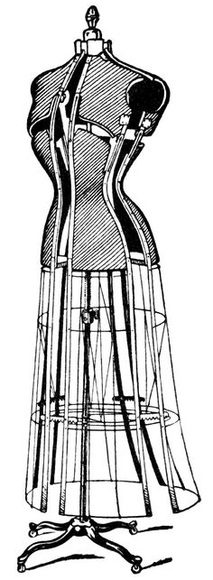 Gown clipart dress form Form Machines and antique Clip