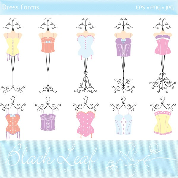 Gown clipart dress form Clip Embroidered Gowns Wedding Clip