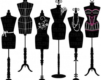 Gown clipart dress form Etsy