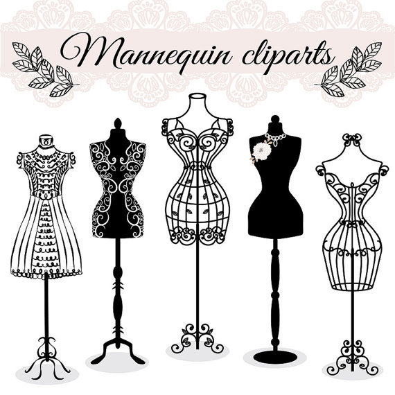 Gown clipart dress mannequin Draw mannequin sewing tailors VECTOR