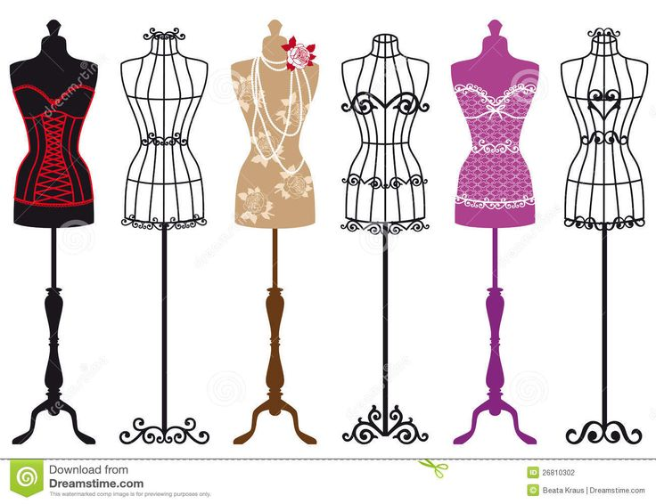 Gown clipart dress mannequin Vector Set Quality Million Fashion