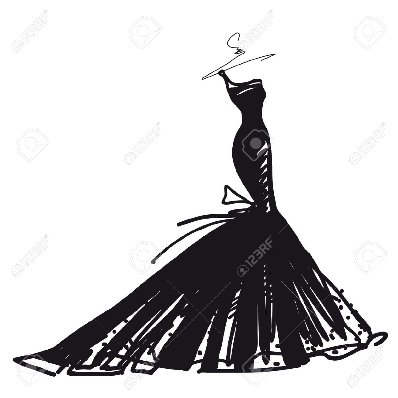 Gown clipart elegant dress Dress Search lady silhouettes of